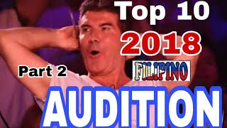 TOP 10 FILIPINO AUDITION  PART 2
