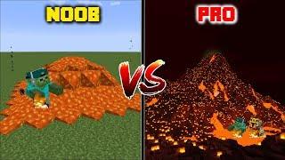 Minecraft NOOB VS PRO: VOLCANO ERUPTION in Minecraft !!