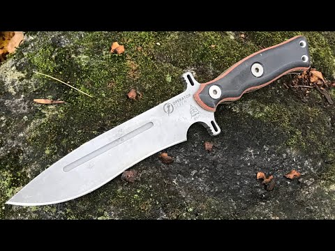 TOPS Operator 7 Combat / Survival Knife + Little Bugger (And Sheath from Black Bear Custom Kydex)