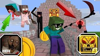 Monster School : GRANNY VS TEMPLE RUN CHALLENGE - Minecraft Animation