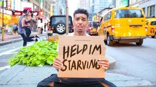 Living On $0 For 24 Hours In New York City (Challenge)