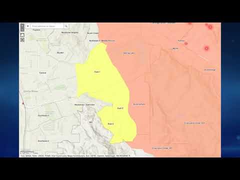 Glass Fire Evacuation Map Update - 9/28/2020