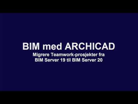 BIM med ARCHICAD: Migrere Teamwork-prosjekter