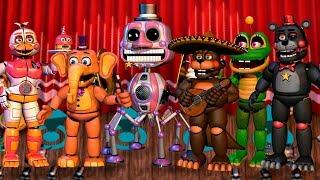 Todos los Animatronicos y Minijuegos **FNAF 6** Freddy Fazbear's Pizzeria Simulator