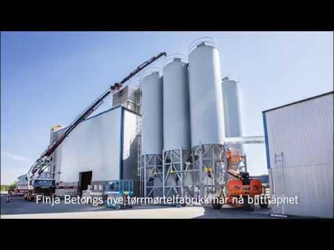 Åpning av Finja Betongs fabrikk i Strängnäs