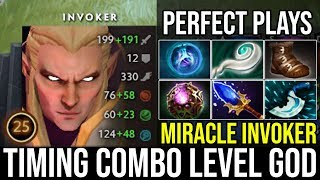 Miracle [Invoker] Timing Combo Level Pro Player Crazy Gameplay 7.21d | Dota 2 Full Game