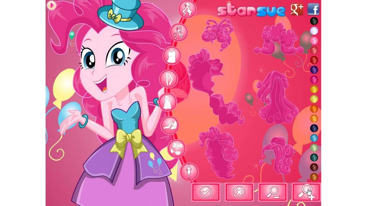 Pinkie Pie Party Time Dress Up Game Preview - YouTube
