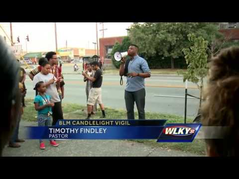 Black Lives Matter vigil held in Louisville