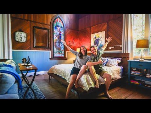 MOST AMAZING AIRBNB Rental (Staying in a Church!) ⛪ + BIGGEST DONAIR in NOVA SCOTIA, Canada 🇨🇦