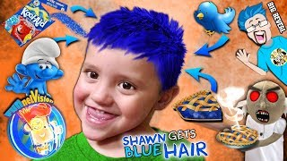 SHAWN gets BLUE HAIR Song 🎵 + Cool Surprise! (FUNnel FV Family Vlog)