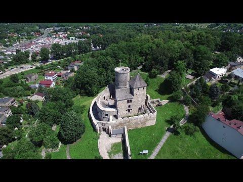 Zamek w Będzinie z powietrza - najpiękniejsze miejsca na Górnym Śląsku i w okolicy