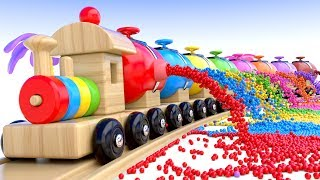 Learn Colors with Preschool Toy Train and Color Balls - Shapes & Colors Collection for Children - YouTube