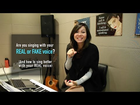 Are you singing with your real or fake voice? (And how to sing better with your REAL voice)