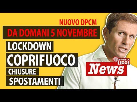 Da domani 5 novembre: lockdown, coprifuoco chiusure e spostamenti   avv. Angelo Greco