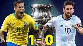 Brazil vs Argentina 1-0 - Kết quả Bán kết Copa America 2019 - 7h30 ngày 3/7