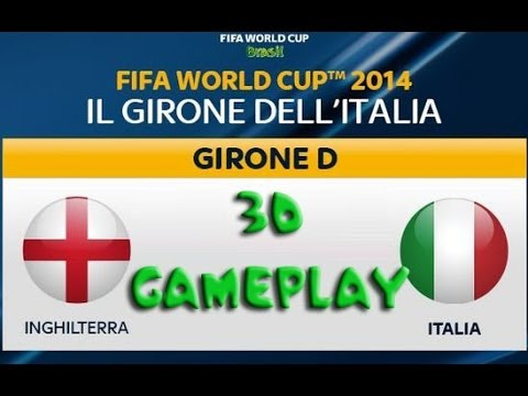 Italia VS Inghilterra in 3D - WC2014 Patch for Pes2014 by QT78