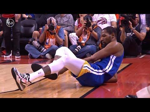 Kevin Durant ACHILLES INJURY - Game 5   Warriors vs Raptors   2019 NBA Finals