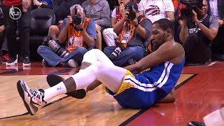 Kevin Durant ACHILLES INJURY - Game 5 | Warriors vs Raptors | 2019 NBA Finals