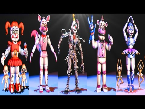 five nights at freddy s sister location all animatronics secret
