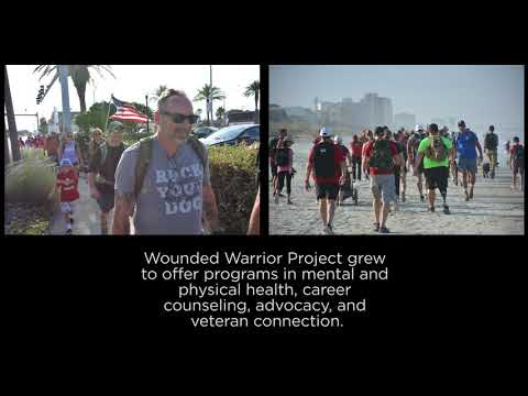 Mark connected with Wounded Warrior Project when someone delivered a backpack to him while in the hospital. WWP has helped Mark in his recovery to where he is now helping others in their journey.