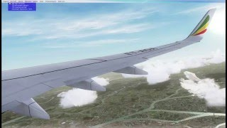 FSX 2016 ETHIOPIAN PDMG NGX 737-800 HD GRAPHICS LANDING AT VHHH