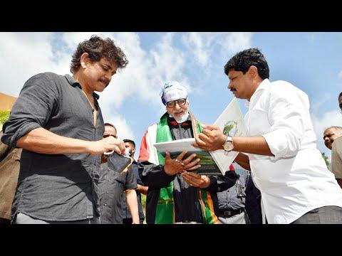 Green India Challenge: Amitabh Bachchan plants sapling in Ramoji Film City