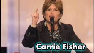 Carrie Fisher Roasts George Lucas at AFI Life Achievement Award