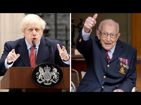 Boris Johnson wishes Captain Tom Moore Happy 100th Birthday