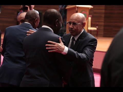 Le Président OUATTARA a pris part à l'investiture du Président Mohamed Ould Cheikh El GHAZOUANI