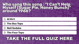 10 songs from the 1960s in one quiz
