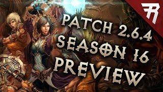 Diablo 3 Season 16 Patch 2.6.4 Preview (PTR Patch Notes)