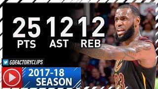 LeBron James Triple-Double Full Highlights vs Lakers (2017.12.14) - 25 Pts, 12 Reb, 12 Ast, KING!