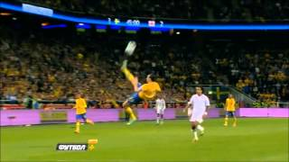 Zlatan Ibrahimovic Bicycle Kick vs England
