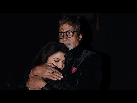 IANS - Emotional Aishwarya hugs Big B post 'Shamitabh' screening