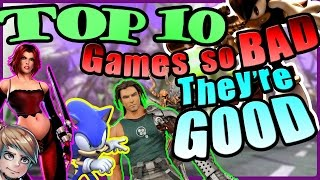 Top 10 Video Games that are SO BAD that they're GOOD! | Lockstin