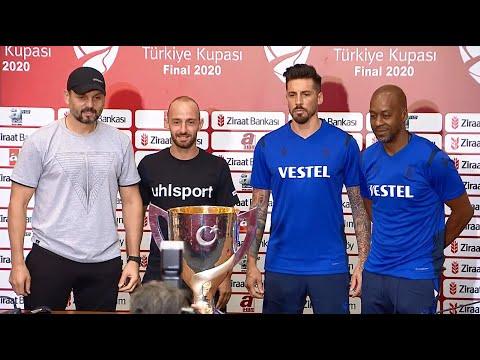 Trabzonspor ile Alanyaspor Türkiye Kupası finali öncesi ortak basın toplantısı düzenledi