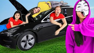 HACKERS TRAPPED US IN TESLA FOR 24 HOURS - Challenge