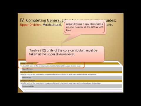 General Education Requirements - An Overview