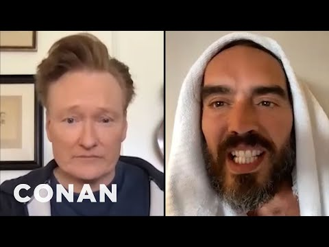 Russell Brand Invites Conan On His Podcast - CONAN on TBS
