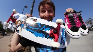 WORST BOARD AND SHOES AT THE PARK!