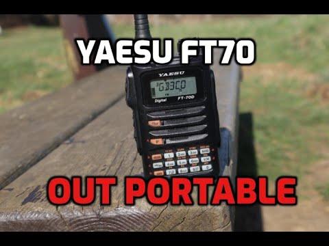 Yaesu FT70 Portable test on Rubberscopic