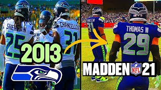 I Put The 2013 LOB Seattle Seahawks In Today's NFL...