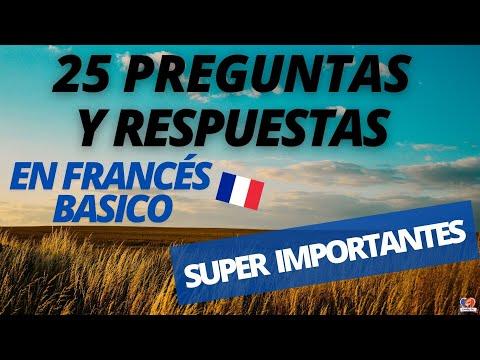 👉25 Preguntas y Respuestas en FRANCES BASICO que TIENES que Saber: SUPER IMPORTANTES 🎇