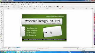 000 How to make a visiting card with logo.avi