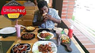 A LA CARTE UNLIMITED FRIED RICE , BURGER ,PIZZA   CAFE SICILIA  FOODIE WITH WATER BOTTLE