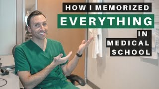 How I Memorized EVERYTHING in MEDICAL SCHOOL - (3 Easy TIPS)