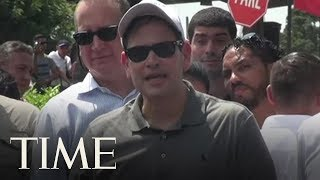 Marco Rubio Warns Venezuelan Soldiers To Let U.S. Aid Enter The Country | TIME