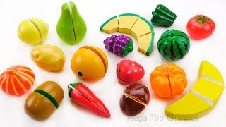 Learn names of fruits and vegetables | Toy velcro cutting Fruits and Vegetables for Kids