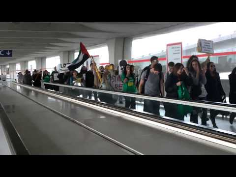 France   Manifestation d EuroPalestine a Roissy video 2 720p