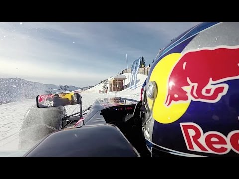 Max Verstappen onboard F1 Show Run in the Snow